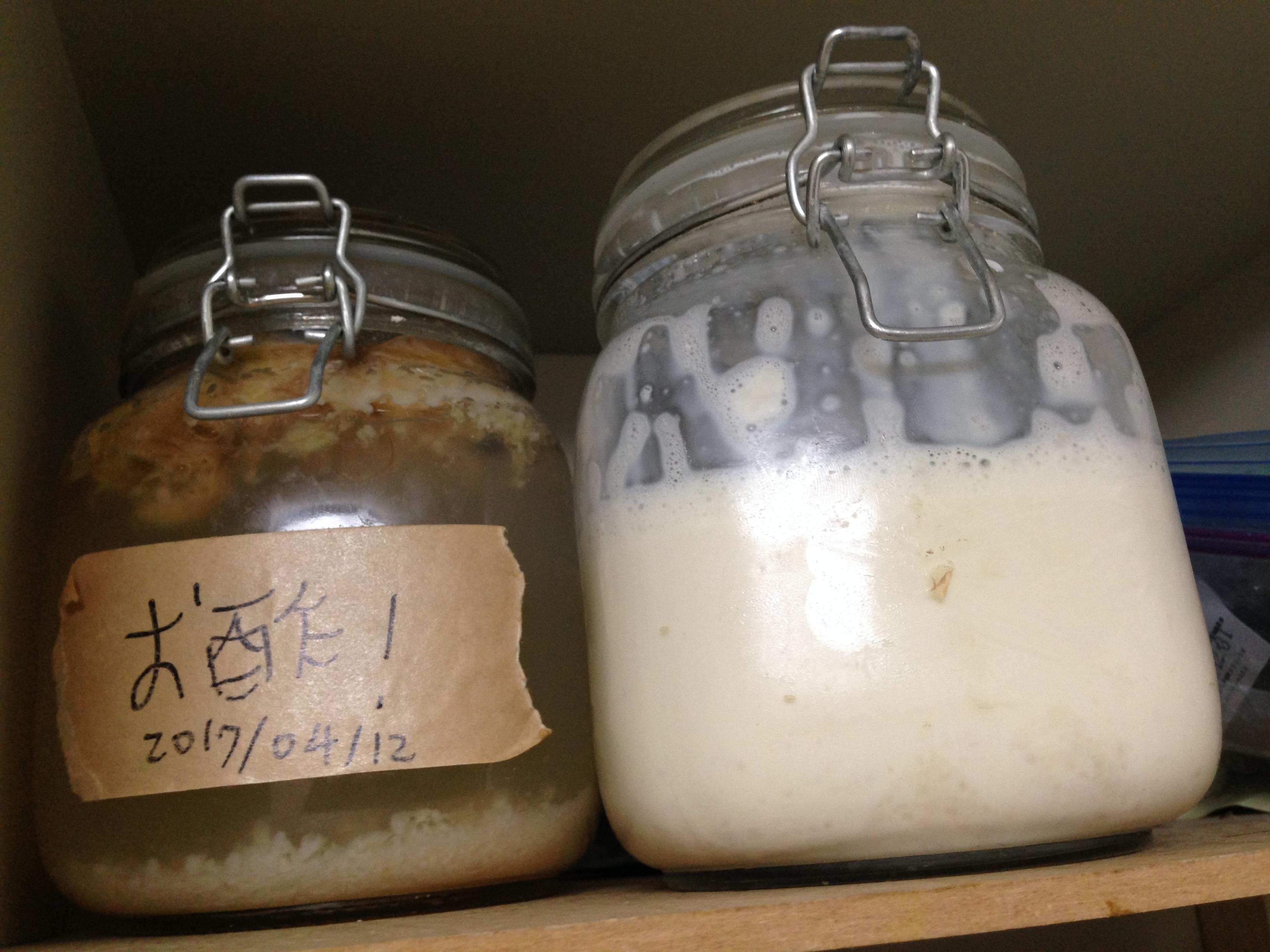 例のごとく保存食棚で発酵させます